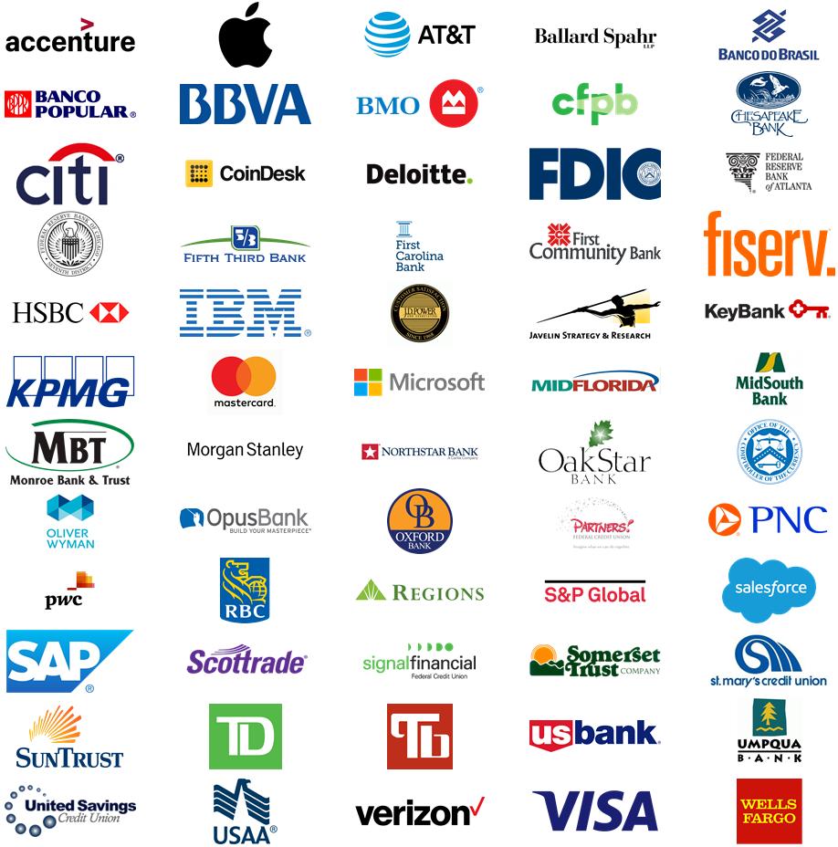Retail Banking 2018 - Attending Firms Logos